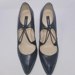 DKNY Women's Leather Heels Size 8.5